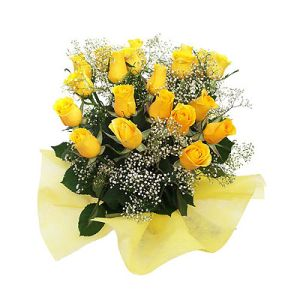 Dozen Yellow Roses Friendship Flower