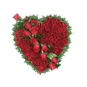 40 Red Roses Heart full of Love