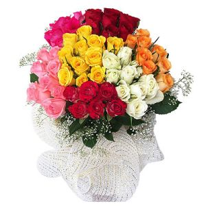 Mix Roses Bunch Flower