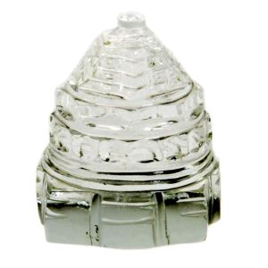 100% Pure Sphatic Crystal Good Luck Shri Yantra