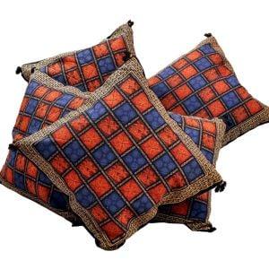 Handblock Bagru Print Cotton Cushion Cover Set