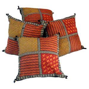 Bagru Patch Work Pure Cotton Cushion Cover Set