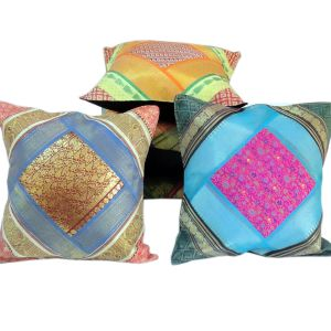 Multi -Colour Brocade Work Cushion Cover Set