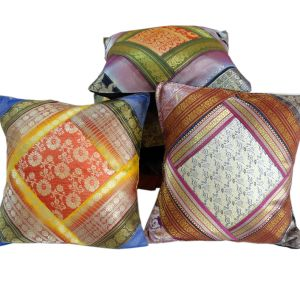 Ethnic Designer Brocade Work Cushion Cover Set
