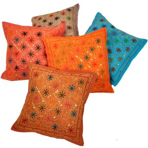 Sitara Work Handmade Cushion Cover 5 Pc. Set