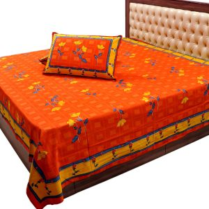 Jaipuri Print Double Bed Sheet Pillow Covers
