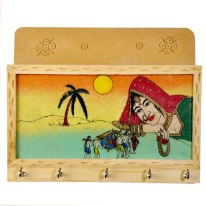 Gemstone Painting Key Magazine Holder Gift