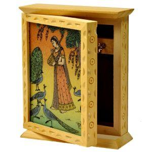 Rajasthani Gemstone Painting Key Holder Box