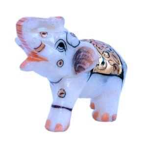 Rajasthani Handmade Elephant Marble Handicraft