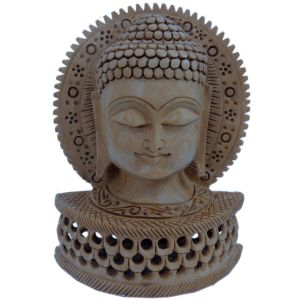 Religious Buddha Statue Carved Wooden Gift