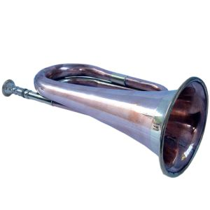Real Full Size Pure Brass Bugle to Play Gift