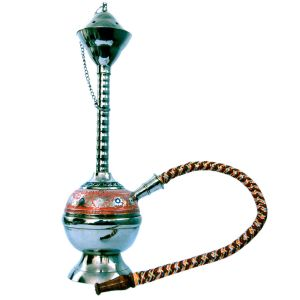 White Metal Colorful Meenakari Work Real Hukka