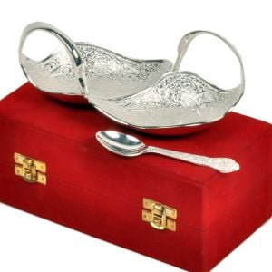 Silver Polish Brass Duck Shape Freshener Bowl