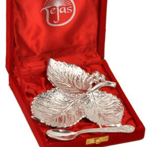 Silver Polish Leaf Shaped Brass Freshener Set