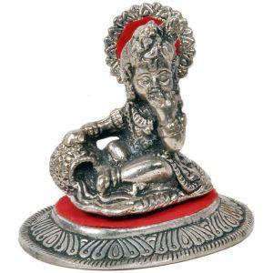 White Metal Lord Ladoo Gopal Krishna Puja Idol
