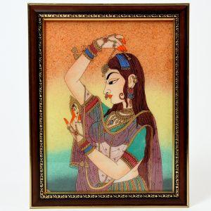 Pretty Princess Bani Thani Gemstone Painting
