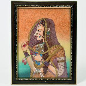 World Famous Cute Bani Thani Gemstone Painting