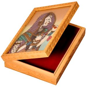 Ethnic Gemstone Painted Wooden Hot Jewelry Box