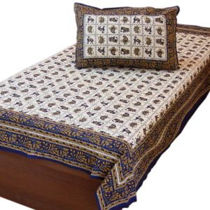 Hand Block Print Cotton Single Bed Sheet Set