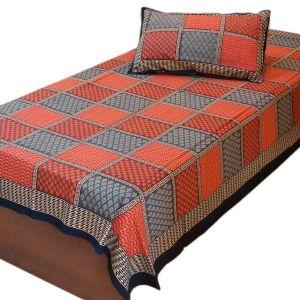 Jaipur Bagru Print Single Bed Sheet Bedcover