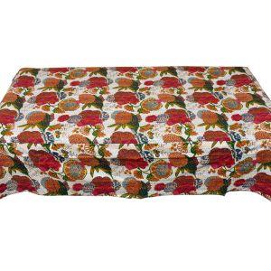 Gujrati Katha Fine Thread Work Single Bedsheet