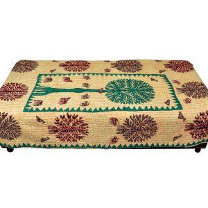 Jaipuri Katha Thread Work Gudri Style Bedsheet