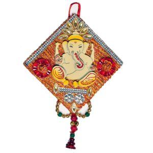 Lord Ganesha Decorative Wooden Wall Hanging