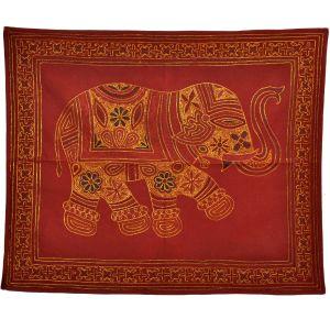 Single Elephant Embroidery Figure Wall Hanging