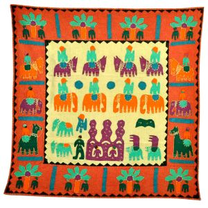Exclusive Handmade Applique Rich Wall Hanging