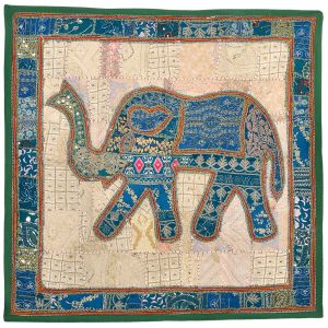 Applique Embroidered Elephant Wall Hanging