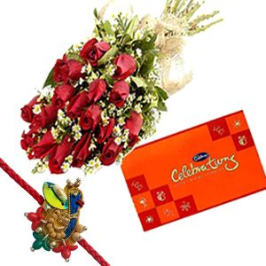 Rakhi Flower n Chocolate Hamper