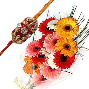Mixed Color Gerbberas n Rakhi