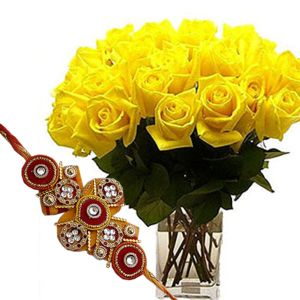 Raksha Bandhan Flowers n Rakhi