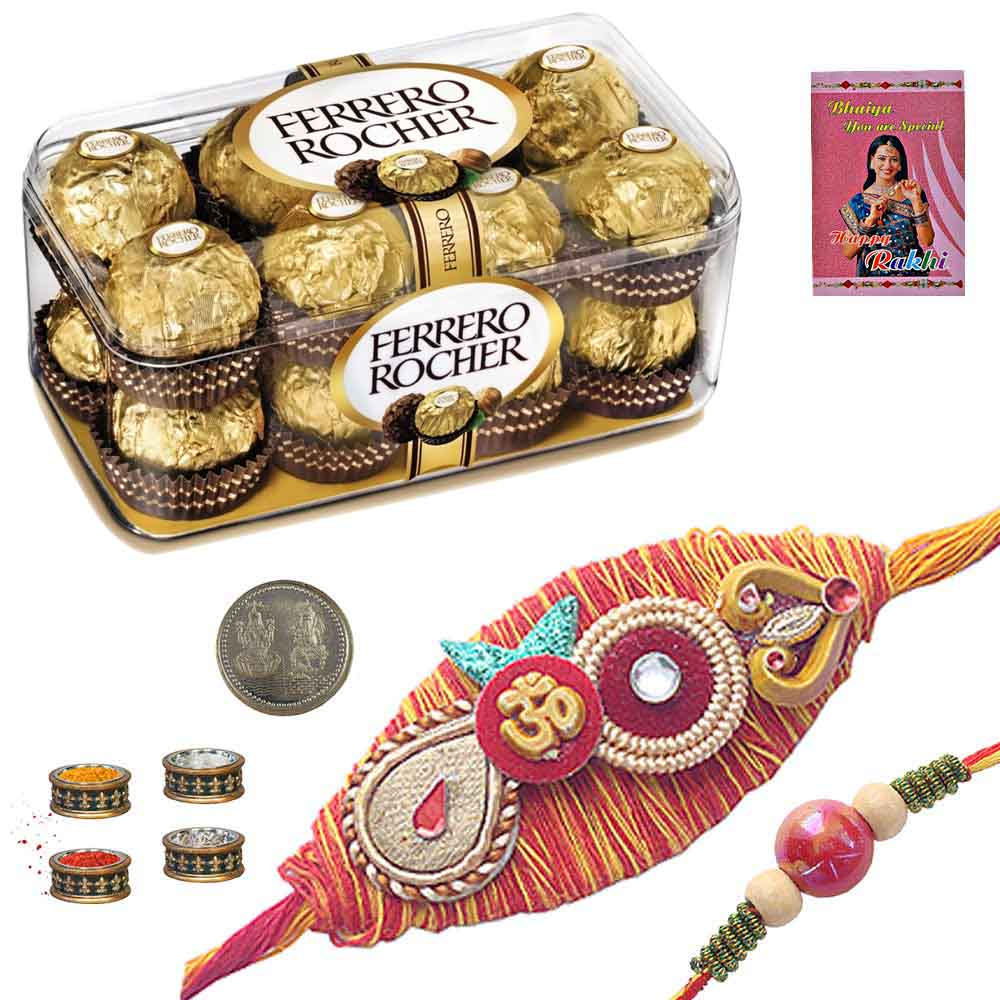 Exclusive Rakhi n 16Pc. Rocher Chocolate Box