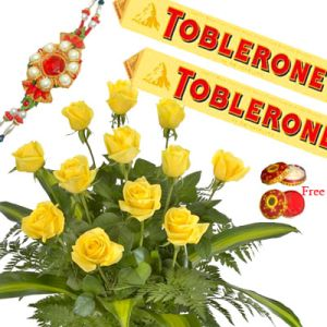 Rakhi with Roses Toblerone Treat