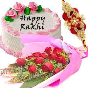 Rakhi with Strawberry Delight