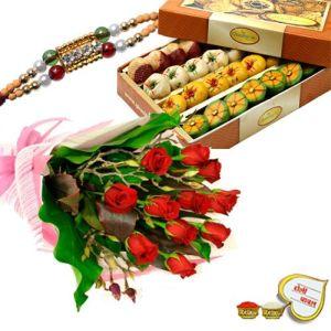 Rakhi with Sweet Box