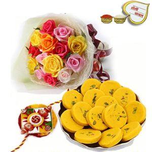 Rakhi with Roses n Pedas