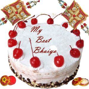 Rakhi with Blackforest Cake