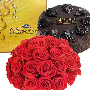 Flowers with Choco and Cake