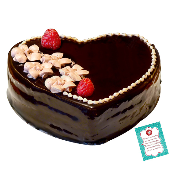 Heart Shape Cake n Greeting Card