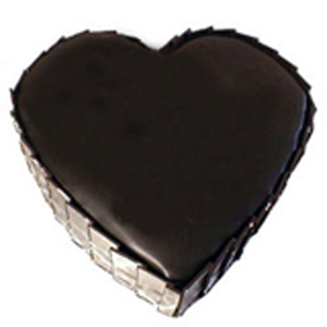 1Kg Dark Chocolate Heart Shape Cake