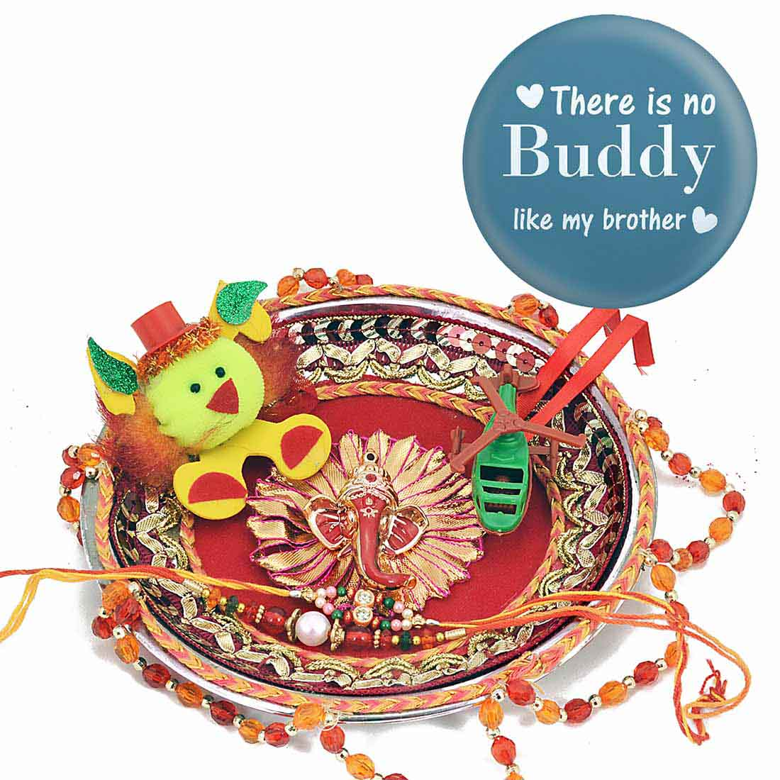Ethnic Handcrafted Pooja Thali Set With Magnetic Badge