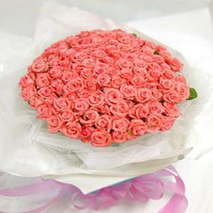 100 Orange Roses