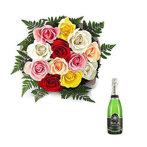 Mix Roses with Champagne