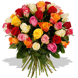 Send 18 Mixed Rose Bouquet To India