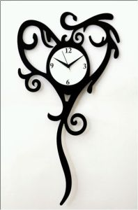 Designer Heart Clock