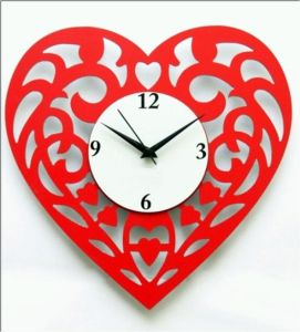 Artistic Heart Clock