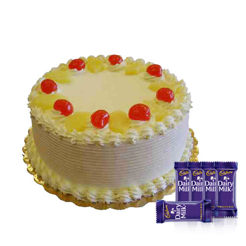 Pineapple Cake n Dairy Milk Chocolate