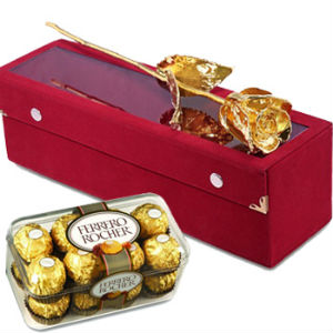 Gold Rose n 16 pcs Ferrero Rocher Chocolates